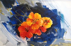 Hot Berkelies (R.khosh) Tags: flower art nature watercolor painting berkeley       qualitysurroundingsnewgroup