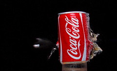 Exploding Cola (Mark Watson (kalimistuk)) Tags: red wet make lumix frozen still smash shoot shot cola fast coke spray panasonic impact quick explode dmc highspeed strobe fz50 froze 22cal top20red
