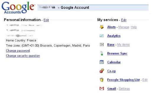 google management compte