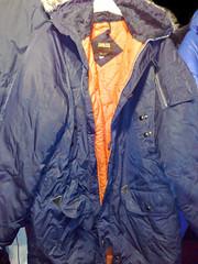 Navy Blue Nylon Parka (Clothes Mountain) Tags: blue school winter orange snow green fur snorkel coat navy retro jacket 80s hood polyester collectors 1980 1980s item zip nylon parker parka padded lined ykk