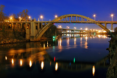 Oregon City Bridge (Jon Asay ) Tags: city bridge reflection oregon river portland nikon day valentines 1855mm date willamette d40
