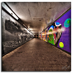 Modernist Social Statement (Aaron_Bennett) Tags: art photography lights graffiti alley nikon pavement farming modernism dri hdr d300 aaron sigma point vanishing 1020mm bennett vertorama