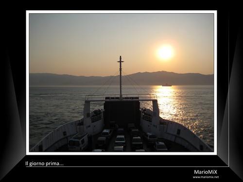Tramonto sullo Stretto di Messina