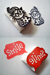 Cat - Owl No.5 (kirkus!) Tags: houses house animals cat scrapbooking typography carved hand stamps eraser letters rubber carving tiny owl font letter packaging stamping characters etsy creatures fonts package stationary speedball handcarved kirkus