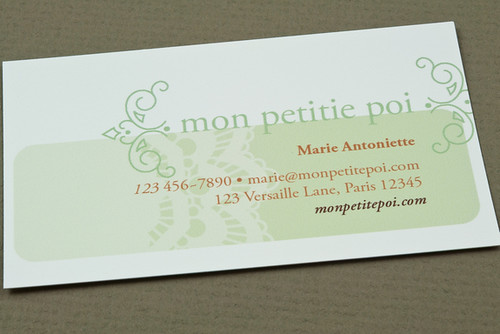 Decorative Bakery Business Card