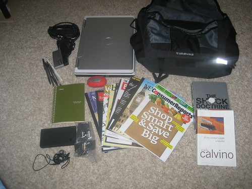 Contents of my messenger bag