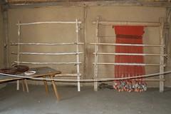 Senkrechte Gewichtswebstühle Haithabu 19-04-2009