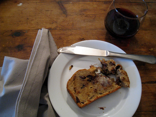 afternoon treat: bread and wine