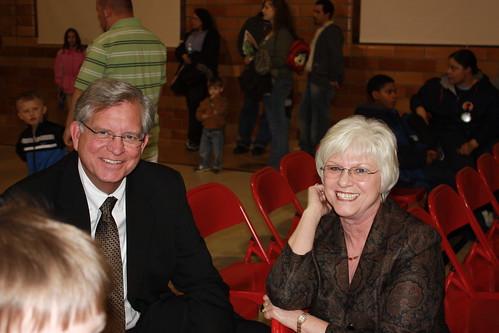 Superintendent Mr. Shorkey & Betty Veen