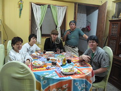 Dinner on the 4th at the house of Vlad\'s uncle Rafael, aunt Rosario, and cousin Carol.