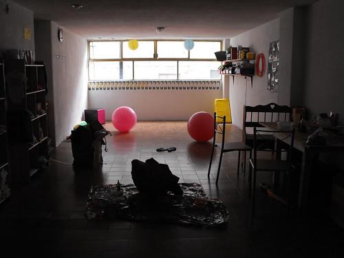 La sala un día antes.