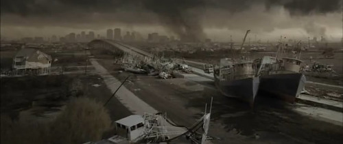 Katrina footage used in The Road