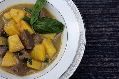 Green Curry Beef with Pineapple, Coconut Rice 1