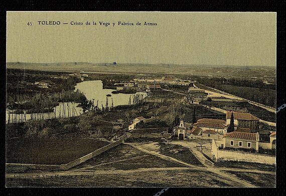 Cristo de la Vega (Antigua Basílica de Santa Leocadia) a principios de siglo. Hacia 1910