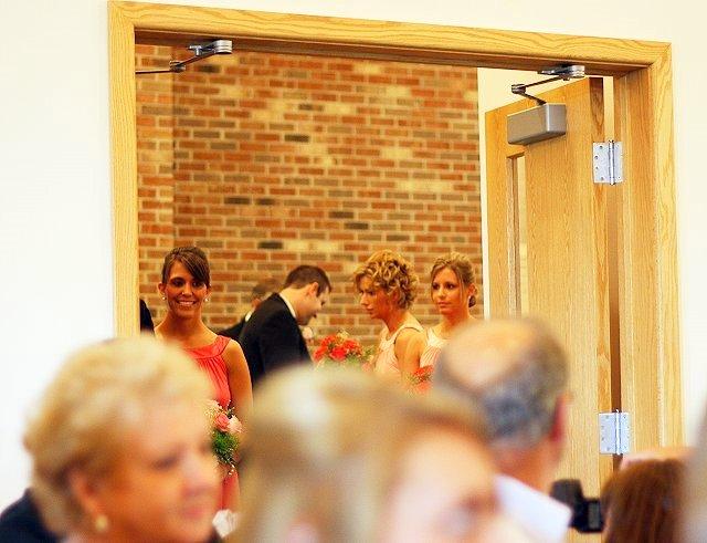 bridal party waiting