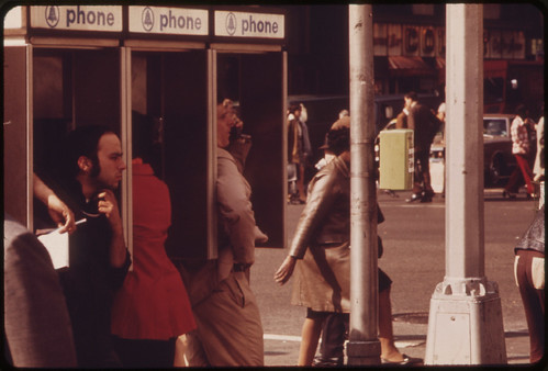 Phone Stalls at Broadway and 34th Street. 05/1973