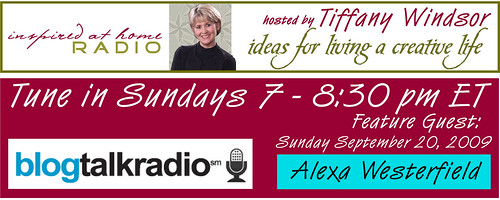 I'm going to be on Inspired at Home radio!