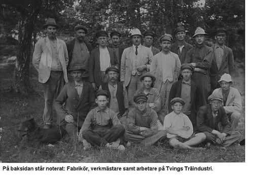 Personal på Tvings Träindustri, ca. 1920
