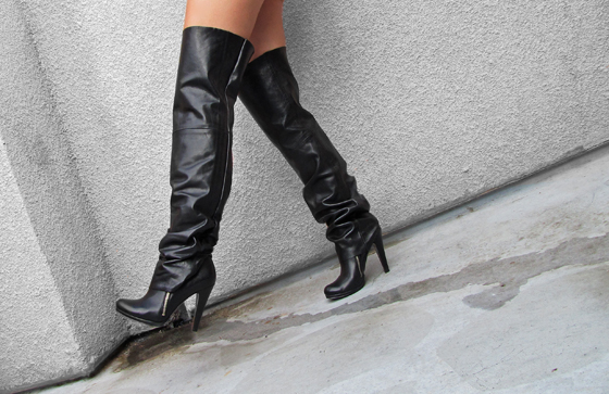 DIY Leather Over The Knee Boot Spats | ...love Maegan