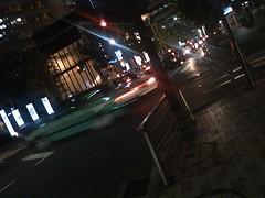 深夜の赤坂bizタワー前