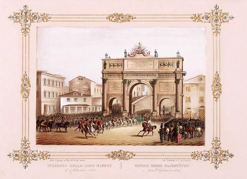 013 Ferdinando I e Maria Anna Carolina  nel litorale in settembre 1844