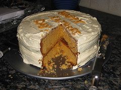 Butterscotch Father's Day cake
