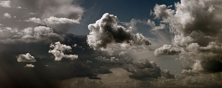 Cumulus Clouds Panorama by Darkr, on Flickr