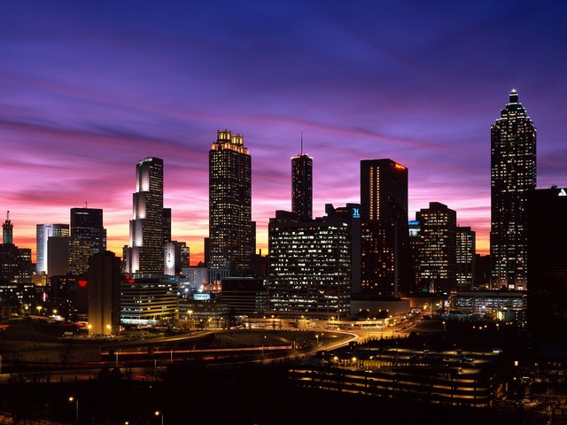 Atlanta Skyline at Sunset_ Georgia(1)