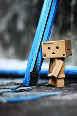 Blue (sⓘndy°) Tags: sanfrancisco canon toy toys box figure figurine sindy kaiyodo yotsuba danbo revoltech danboard 紙箱人 阿楞 colorsinourworld beyondbokeh amazoncomjp