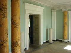 Fota House lime and claypaint work