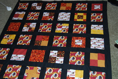 Jay's Redskins quilt