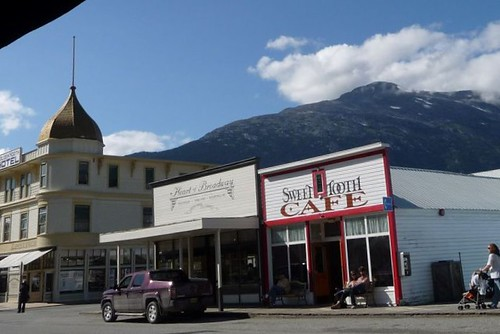 Part of downtown Skagway