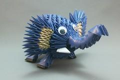 Elefante em origami 3D