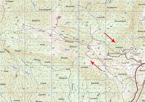 Mapa recorrido Txaruta