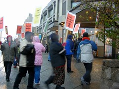 What diversity looks like: Hotel workers protesting outside the Mayors Unity Dinner at the Hilton Anchorage