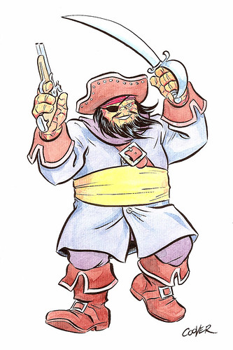 Blackbeard Thing (from Fantastic Four #5), by Colleen Coover