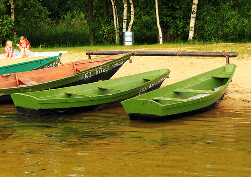 Boats near Plateliai Lake