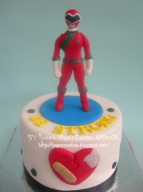 Power Ranger Cake for Broken Heart Man