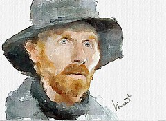#242 Vincent van Gogh (piker77) Tags: portrait painterly man celebrity art face digital photoshop watercolor painting interesting media artist natural retrato aquarelle digitale vincent manipulation simulation peinture illusion virtual watercolour van transparent acuarela gogh tablet technique wacom ritratto impressionist stylized pintura portre  imitation  aquarela aquarell emulation malerei pittura virtuale virtuel naturalmedia bildnis    memorycornerportraits piker77wc arthystorybrush