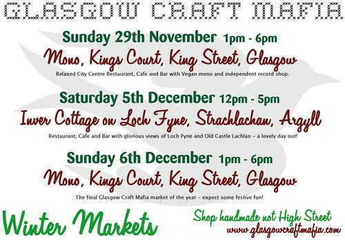 Glasgow Craft Mafia Winter Markets