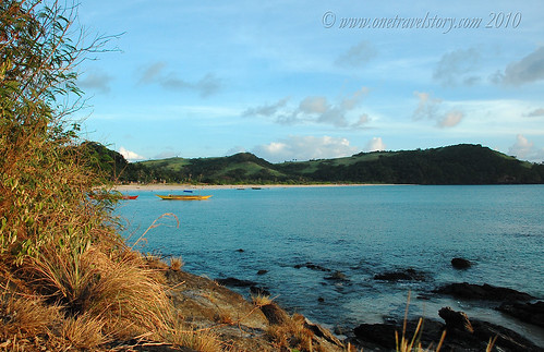 Mahabang Buhangin viewed from the hill, Calaguas Island, Camarines Norte