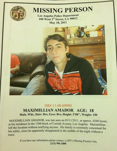 Missing Person: Maximillian Amador