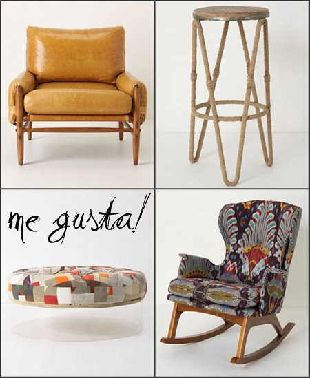 Anthropologie Seating Roundup