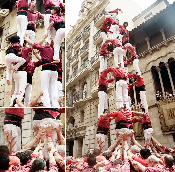 Castellers mosaico torres