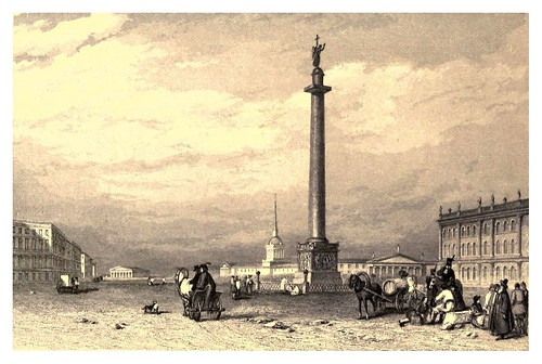 009-Columna Alejandrina-San Petersburgo-A journey to St. Petersburg and Moscow 1836- Ritchie Leitch