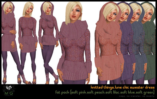 [MG fashion] knitted things collection.lune chic sweater dress (fatpack04)