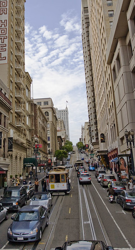 A Hilly street in San Francisco