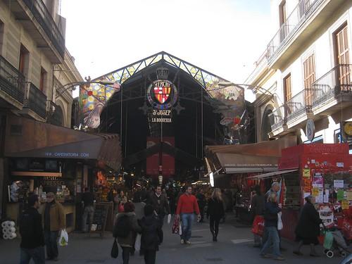 Market entrance on Las Ramblas