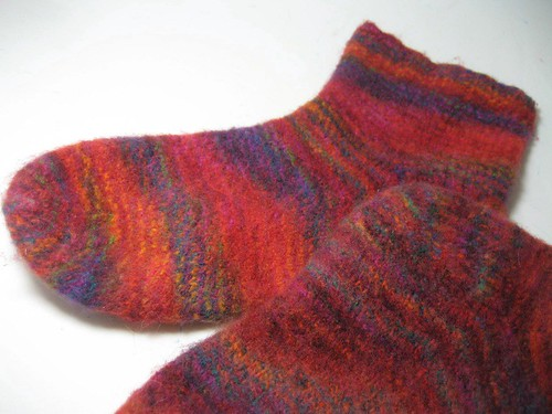 felted mountain colors socks