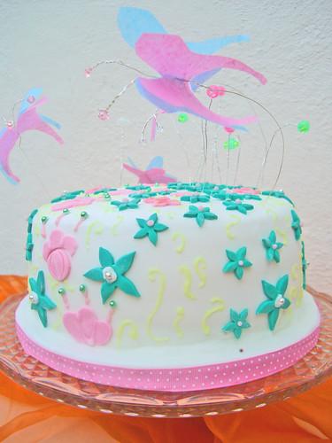 Lemon spring butterfly cake 2